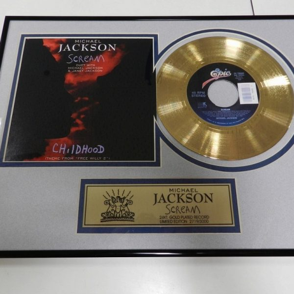 Michael Jackson – Scream – AWARD – USA – Numbered – Gold